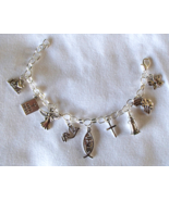 Christian Theme Charms SP Chain Link Adjustable... - $19.99