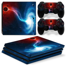 Sony PS4 PRO Space Galaxy Console & 2 Controllers Decal Vinyl Skin Art Wrap  - $13.83