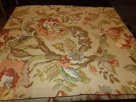 Pottery Barn Set 2 Vanessa Drapes Neutral 50x84L Curtain Floral Pair Rare - $189.00