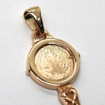 SOLID 18K ROSE GOLD KEY PENDANT, SAINT BENEDICT MEDAL, CROSS, 1.2 INCHES image 5