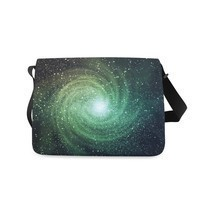 Galaxy Space Universe Stars Shoulder Messenger Bag School Bag - $43.00