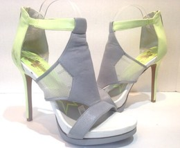 circus sam edelman gray yellow Roma ankle strap Stiletto heels size 9.5 - $24.74
