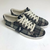 Polo Ralph Lauren Shoes Men Size 9.5D Plaid Sneakers - $19.88