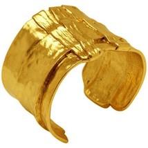 Karine Sultan Gold or Antiqued Silver-Plated Ox Cuff Bracelet Celebrity Designer - $59.95