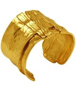 Karine Sultan Gold or Antiqued Silver-Plated Ox Cuff Bracelet Celebrity ... - $63.95