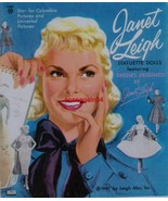 VINTAGE UNCUT 1957 JANET LEIGH PAPER DOLLS~#1 REPRODUCTION~EIGHT PAGES C... - $17.50