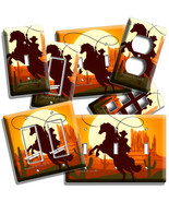 CANYON COWBOY LASSO HORSE LIGHT SWITCH OUTLET WALL PLATE WESTERN ROOM HO... - $10.99+