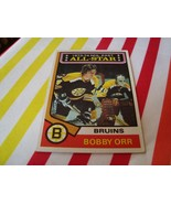 Bobby Orr 1974-75 #130 Topps Hockey Card Excellent Condition Boston Bruins - $13.49