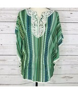 Style & Co Women Large Top Striped Geometric Angel Sleeves Stretch Elast... - $4.92