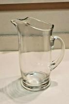 "Crystal Glass 10 3/4"" High Carafe Pitcher Nice Quality - $39.55"
