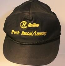 Vintage Rollins Truck Renting Leasing Hat Cap Mesh Snapback Black Made I... - $12.86