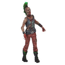 Walking Dead Toy Classic Punk Rock Star Look Zombie With Guitar Accessory - $18.99