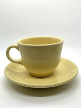 Fiestaware Fiesta Homer Laughlin HLC  Yellow Coffee Mug And Saucer Set - $15.79