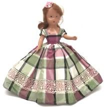 Vintage Storybook Doll Repro Like Nancy Ann Auburn Taffetta Dress - $29.70