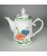 Villeroy Boch Amapola Teapot Poppies 1748 West Germany 8.5 Inch Porcelain - $64.35