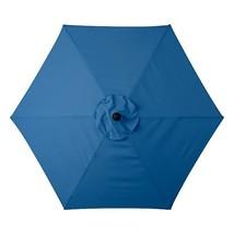 Pacific Blue 6 Foot Deluxe Patio Umbrella Crank Tilt White or Bronze Frame - $114.56 CAD