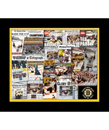 Boston Bruins 2008 Stanley Cup Newspaper Collage Print. 25 Various Newsp... - $19.99+