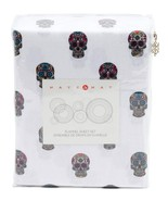 Nate and Nat Skulls Day of the Dead Flannel Sheet Set Queen - $77.00