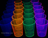 25ct Neon Blacklight Reactive 10oz Party Cups with 25 Blacklight Balloons