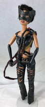 Altered Barbie Doll Cat Woman with Hand Made Whip & Mask - Painted Arms  - $24.18