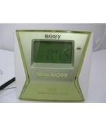 Sony Green Dream Machine LIV FM/AM Alarm Clock Radio ICF-C143 Tested Works  - $15.99