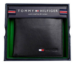 Tommy Hilfiger Men's Premium Leather Id Credit Card Coin Wallet Black 31Tl25X020 image 4
