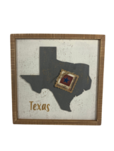 AGD#2105-302 Patriotic Decor - One Nation Under God Texas 3-D Wood Box Sign - $29.95