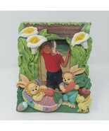 Easter Bunny Rabbit Lily 3D Picture Frame 3.5 x 5 Super Cute - $9.46