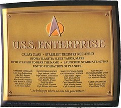 LootCrate July 2016 Exclusive Star Trek U.S.S. Enterprise Dedication Pla... - $7.38