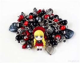 Rozen Maiden Charm Bracelet, Gothic Lolita, Gothic Jewelry, Anime - $57.00