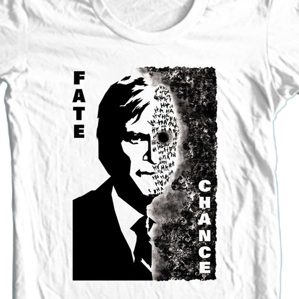 Two Face T-SHIRT Harvey Dent Dark Knight DC 100% cotton graphic white tee BM1691