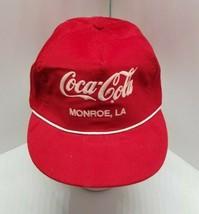 Vintage Coke Coca Cola Monroe LA Red Corduroy Snapback Hat Cap America P... - $19.75