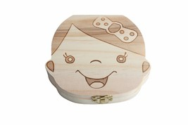 Creative Gift Wood Baby Girl Boy Tooth Organizer Boxes Save Deciduous Te... - $17.83 CAD