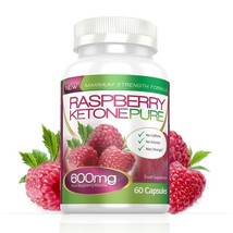 Raspberry Ketone Pure Max Strength 600mg 60 Capsules (1 Month) - $32.49