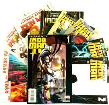 Ultimate Iron Man 10 Comic Book Lot Marvel VF NM War Machine Carol Danvers - $24.70
