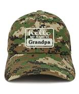 Trendy Apparel Shop Hello My Name is Grandpa Soft Crown 100% Brushed Cot... - $18.99