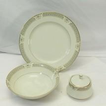 Mikasa Richelieu Chop Plate Serving Bowl Sugar Bowl with Lid - $39.19