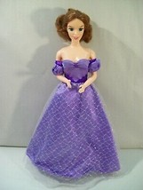 "VINTAGE THE KING & I ANNA 11"" DOLL, PLAYMATES 1999, PURPLE DRESS - $19.55"