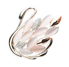 Fashion Swan Crystal & Diamond Party Brooch Pin Clothes Accessories