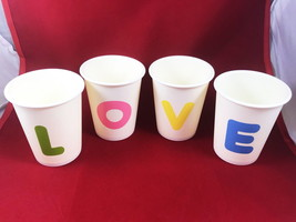 LOVE Cups Decorations Wedding Gift DIY Plastic Artificial Pot  - $7.99