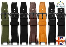 Leather Watch Straps to Fit Casio G Shock GST Series Leather Backed - $63.05