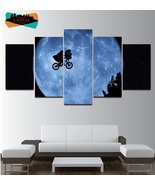 E.T. the Extra-Terrestrial Wall Art Decor Painting Oil Canvas Movie Post... - $74.99+