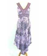 INC Size 6 Pristine Gray Pink Silk Asymmetrical Hem Dress - $23.99