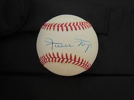 WILLIE MAYS MVP WSC GIANTS METS HOF SIGNED AUTO VINTAGE WHITE BASEBALL P... - $247.49