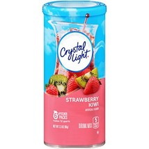 Crystal Light Strawberry Kiwi Drink Mix 72 Pitcher Packets, 12 Canisters of 6
