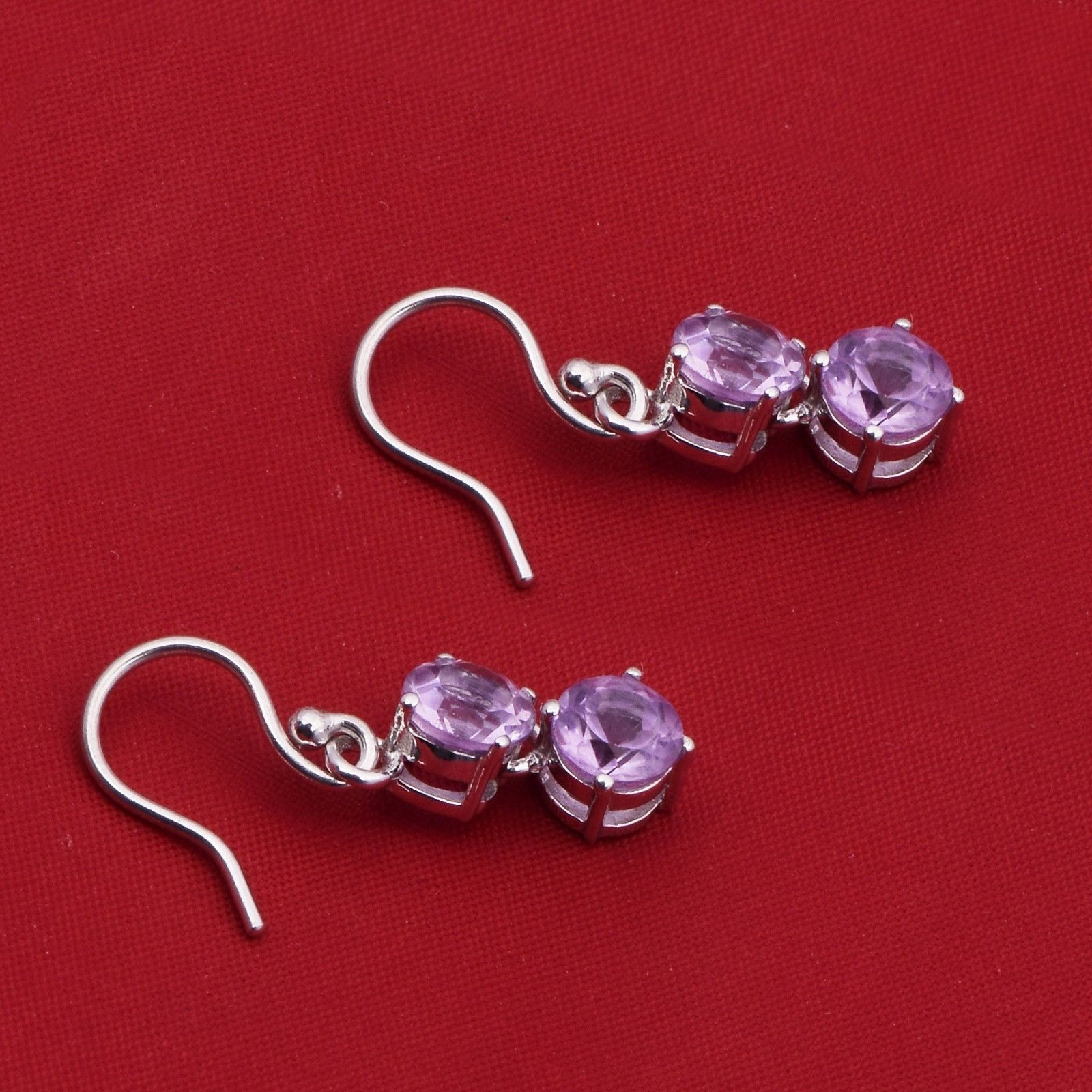 Lovely !! African-Amethyst 925 Sterling Silver Earring Shine Jewelry SHER0771