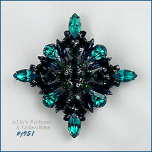 Eisenberg Ice Shades of Green Diamond Shaped Pin (Inventory #J951) - $115.56 CAD