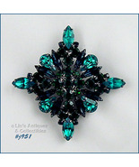 Eisenberg Ice Shades of Green Diamond Shaped Pin (Inventory #J951) - $88.00