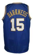 Jerry Harkness #15 Indiana Aba Basketball Jersey Sewn Blue Any Size image 2