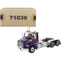 Western Star 4700 SB Tandem Day Cab Tractor Blue 1/50 Diecast Model by D... - $67.56